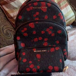 New MK backpack with matching wallet